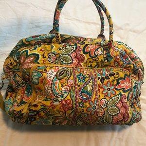 Vera Bradley paisley weekender bag